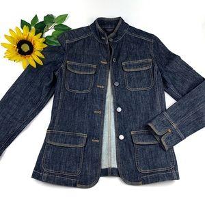 Eddie Bauer Denim Jean Button Front Barn Jacket